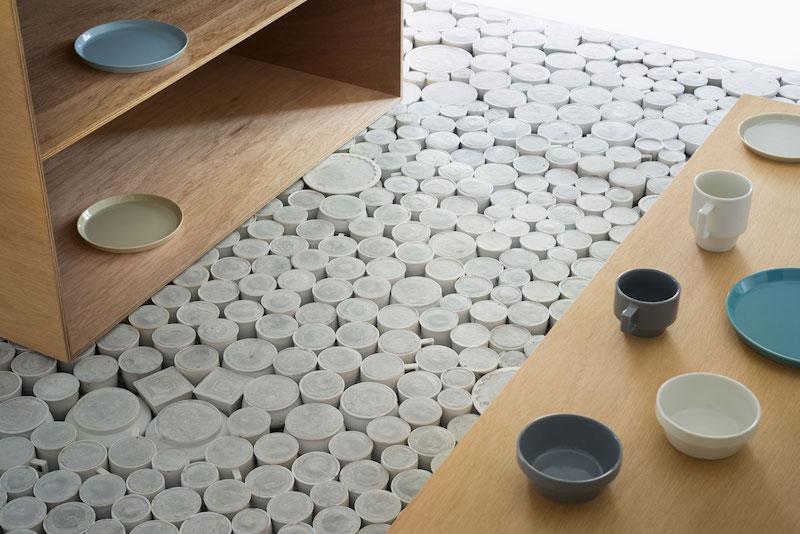 Flagship store suelo realizado a partir de 25.00 piezas de cerámica