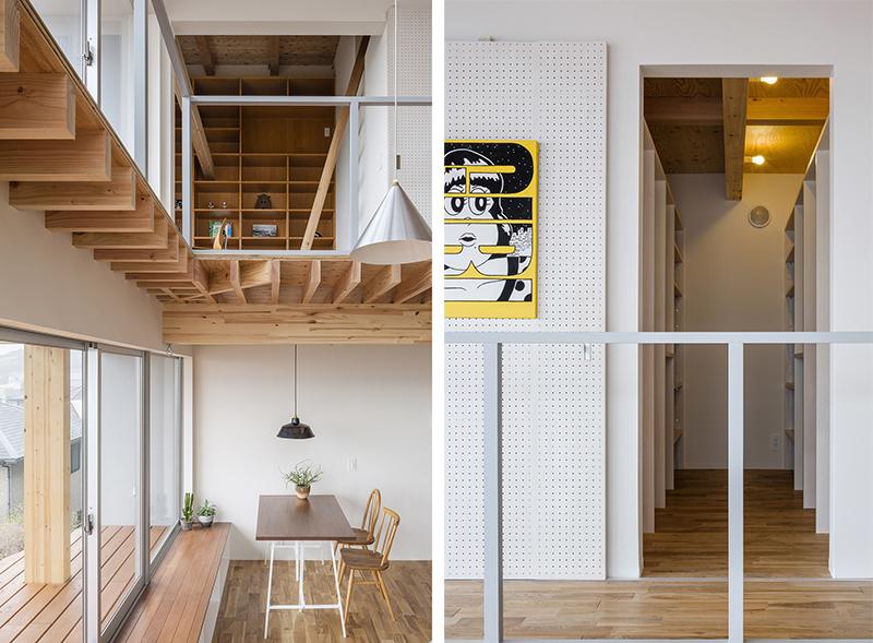 Vivienda techos de madera, grandes ventanales arquitectos japoneses en la ciudad de Kamakura puertas correderas con paneles perforados