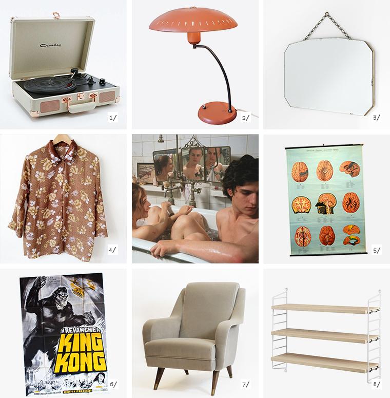 En escena, ocho objetos decorativos inspirados en la pelicula The Dreamers con Eva Green