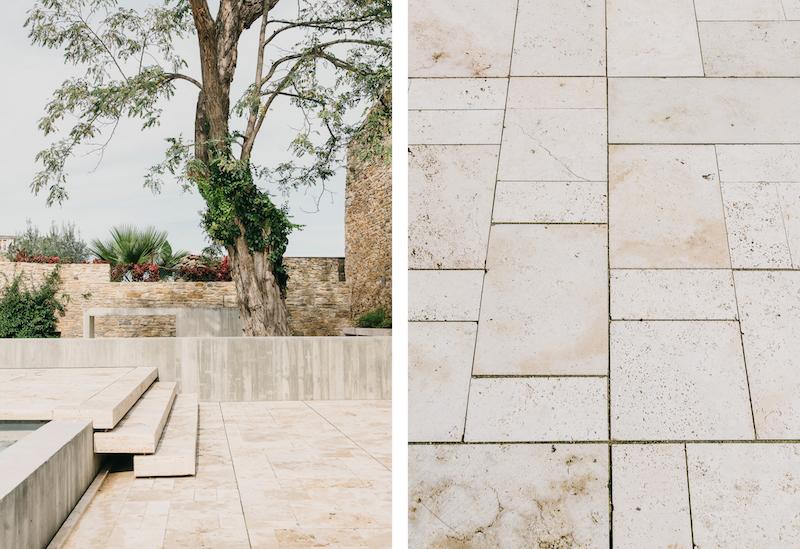 piscina minimalista en un entorno rustico castillo de Peratallada por Mesura arquitectura 3