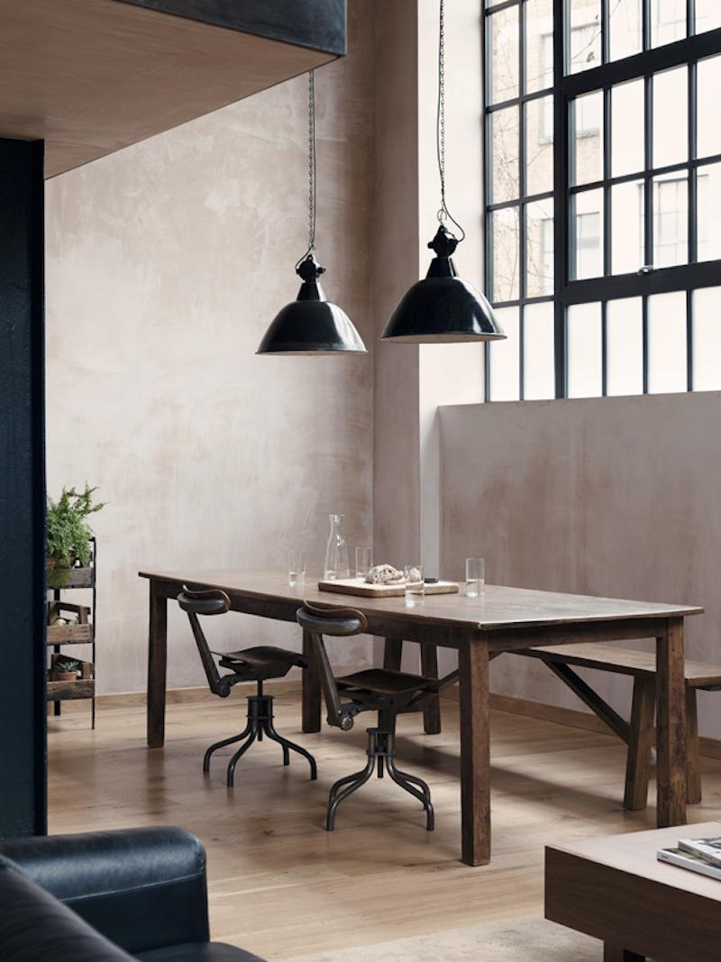Loft en Londres estilo industrial con columnas de acero y pintura de yeso estilo estuco veneciando 1