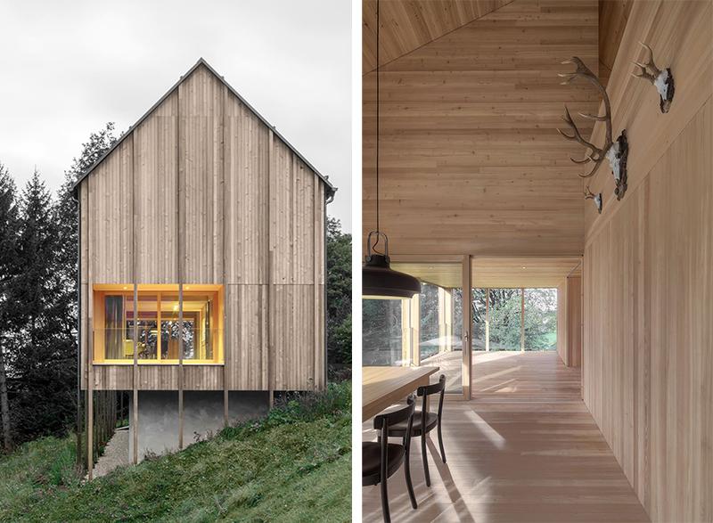 Moderna casa de campo grandes ventanales con vistas a los bosques de Austria 3 copia