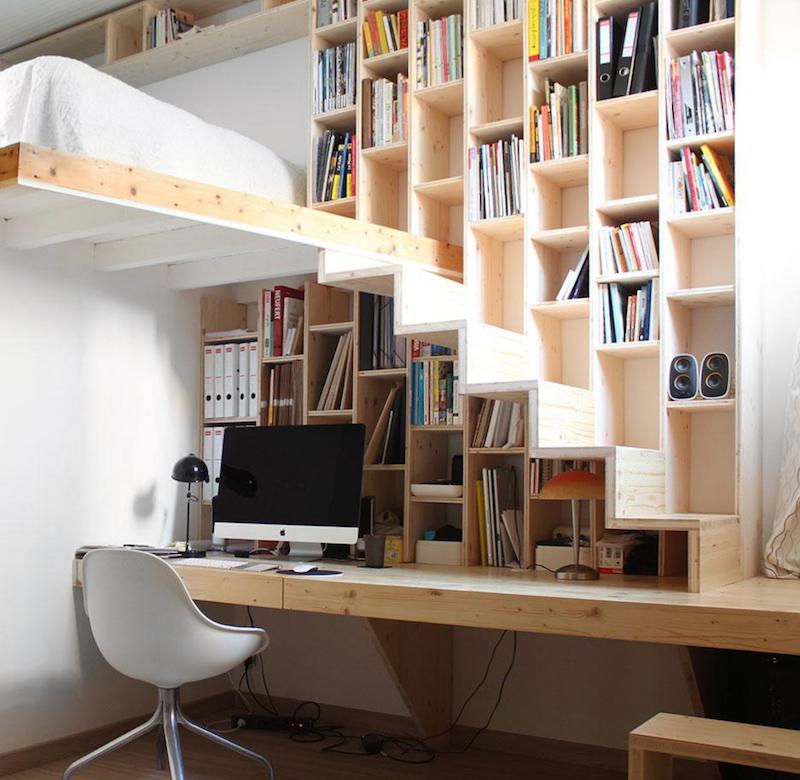 5 Ideas de escaleras para altillos espacios reducidos