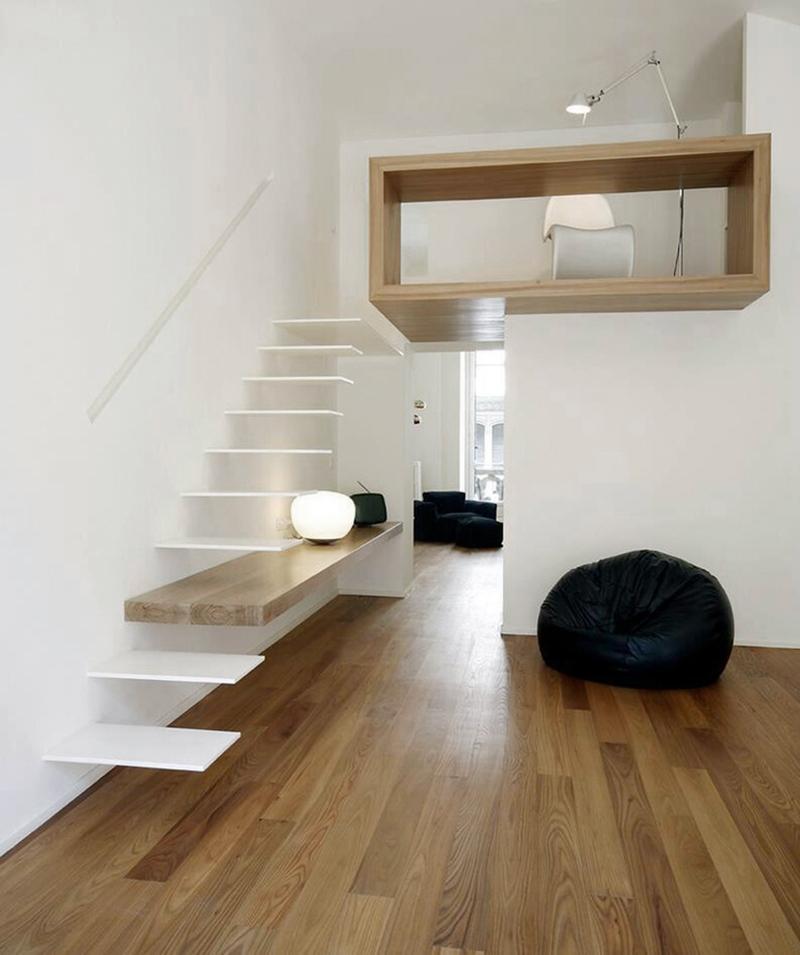5 Ideas de escaleras para altillos minimalista