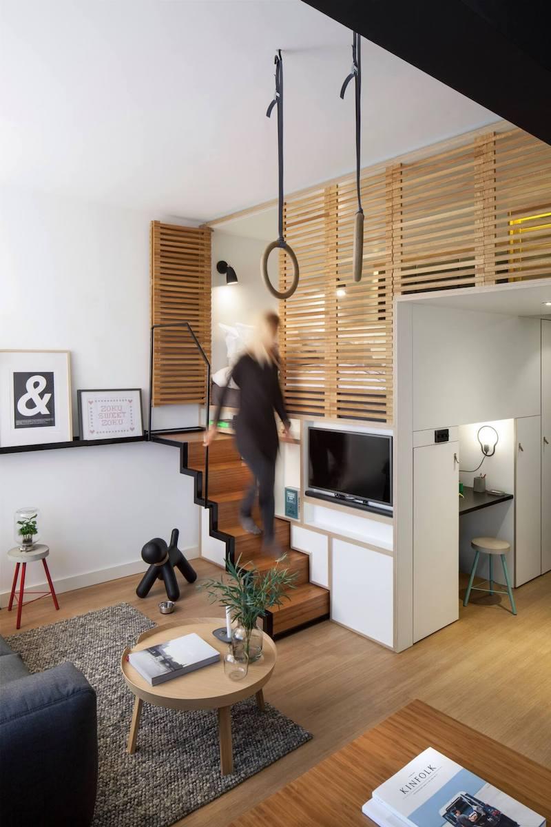5 Ideas de escaleras para altillos y miniespacios