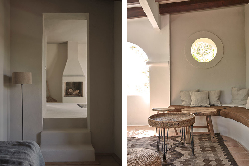 La Granja hotel en Ibiza FarmHouse decoracion sencilla casi austera para un hotel de lujo 2