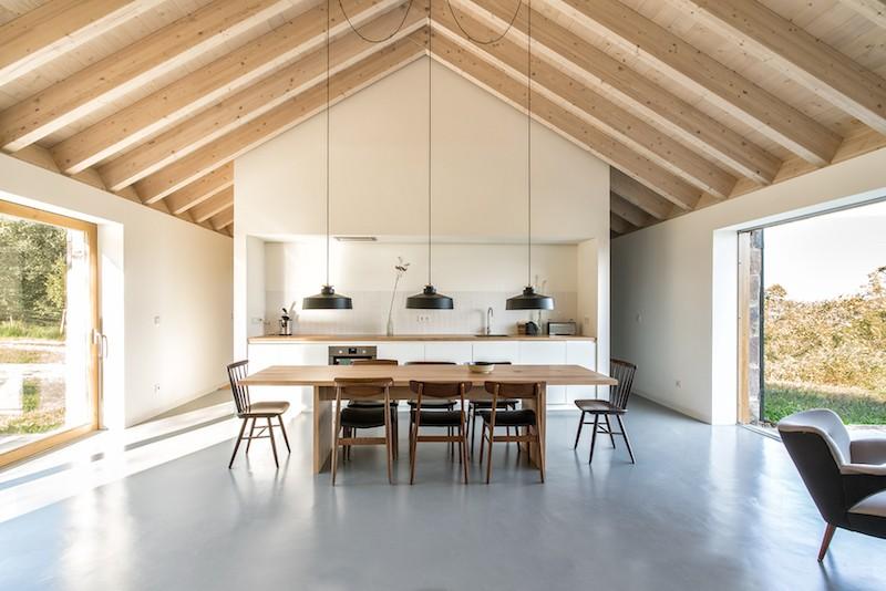 vivienda en el campo para desconexion arquitectura
