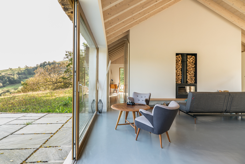 vivienda en el campo para desconexion arquitectura amplios ventanales