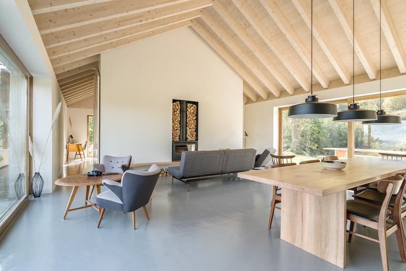 vivienda en el campo para desconexion arquitectura madera natural 1
