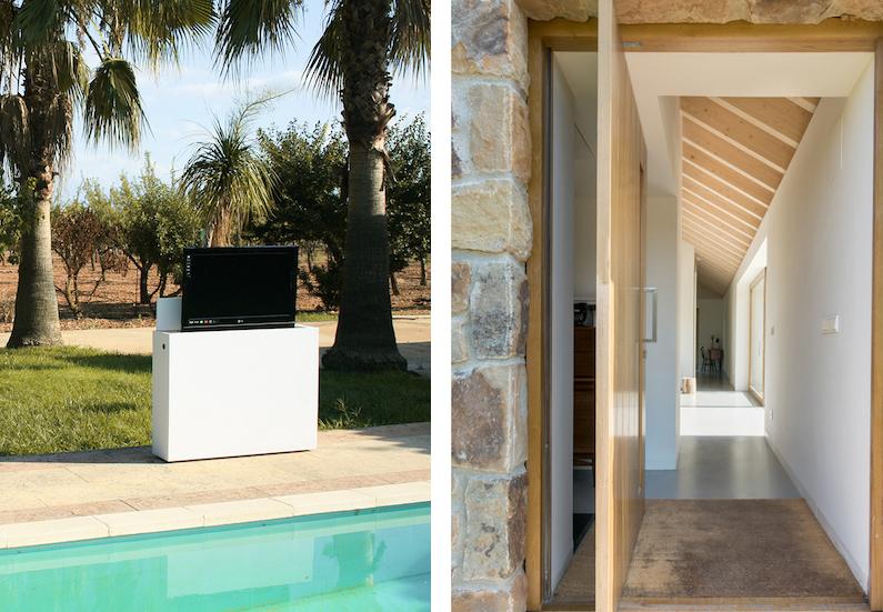 vivienda en el campo para desconexion piscina televisor en exterior sistema deteccion lluvia copia
