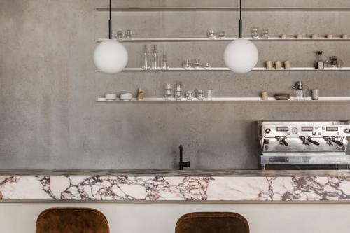 Menu Space cafe,un cafeteria anexa a un espacio de oficinas en Copenhagen por Danielle Siggerud