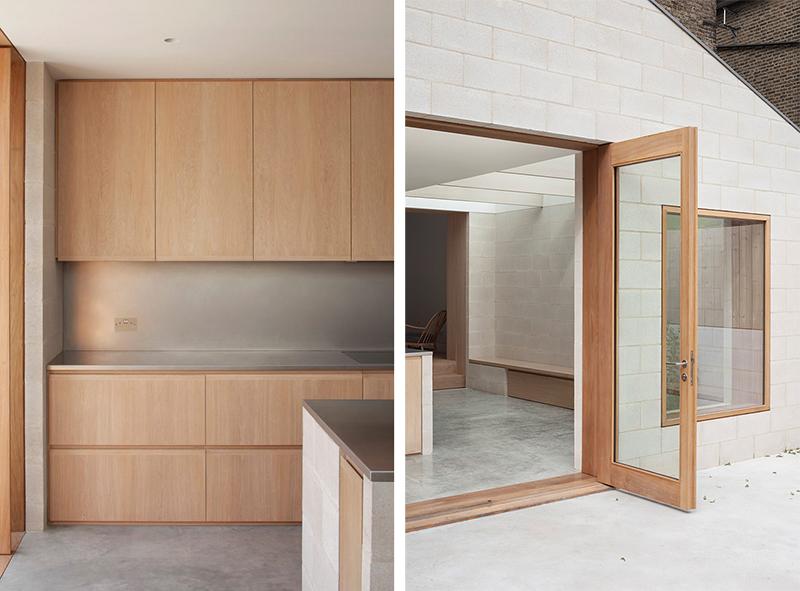 Proyecto obra nueva vivienda cemento pulido ladrillo visto cocina mobiliario madera 2